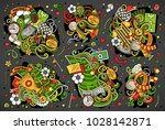 colorful vector hand drawn... | Shutterstock .eps vector #1028142871