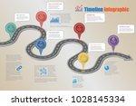 business road map timeline... | Shutterstock .eps vector #1028145334