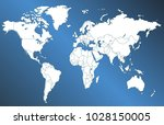 color world map vector | Shutterstock .eps vector #1028150005