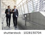 two business talking with... | Shutterstock . vector #1028150704