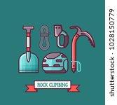 rock climbing icon set.... | Shutterstock .eps vector #1028150779