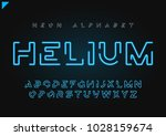 helium vector futuristic linear ... | Shutterstock .eps vector #1028159674