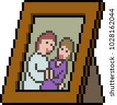 vector pixel art couple picture ...   Shutterstock .eps vector #1028162044