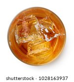 glass of whiskey with ice...   Shutterstock . vector #1028163937