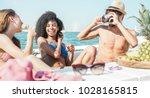 happy friends having fun taking ...   Shutterstock . vector #1028165815