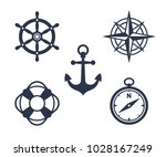 set of marine  maritime or... | Shutterstock .eps vector #1028167249