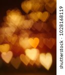 glowing golden blurred... | Shutterstock . vector #1028168119