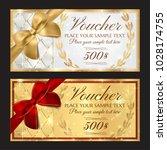 voucher  gift certificate ... | Shutterstock .eps vector #1028174755