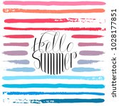 hello summer colorful card... | Shutterstock . vector #1028177851