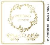wedding decoration border. hand ...   Shutterstock . vector #1028178037