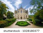 church of saint barbara  a... | Shutterstock . vector #1028180377