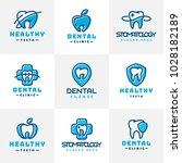 vector dental label protection... | Shutterstock .eps vector #1028182189