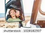 happy couple having a tender... | Shutterstock . vector #1028182507