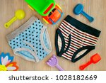 clothes for children in the... | Shutterstock . vector #1028182669