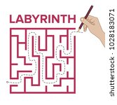 labyrinth shape design element. ... | Shutterstock .eps vector #1028183071