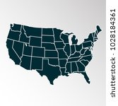 united states of america map....   Shutterstock .eps vector #1028184361