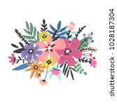 beautiful flowers illustration... | Shutterstock .eps vector #1028187304