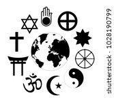world religions planet earth... | Shutterstock .eps vector #1028190799