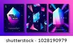 set of abstract trendy cosmic... | Shutterstock .eps vector #1028190979