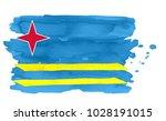 flag of aruba made of brush...   Shutterstock .eps vector #1028191015