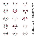 set of people with emotions.... | Shutterstock .eps vector #1028192719