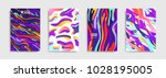 modern abstract covers. cool... | Shutterstock .eps vector #1028195005