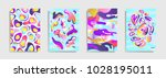 modern abstract covers. cool... | Shutterstock .eps vector #1028195011