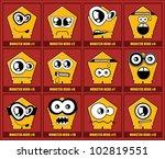 set of twelve monsters | Shutterstock .eps vector #102819551