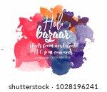 happy holi bazaar illustration...   Shutterstock .eps vector #1028196241