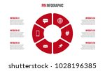 vector red cycle infographic.... | Shutterstock .eps vector #1028196385