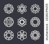flower logo design elements in... | Shutterstock .eps vector #1028199655