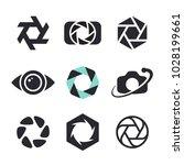 photographer logo design ... | Shutterstock .eps vector #1028199661