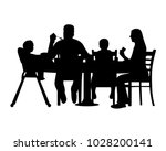 silhouette of a home scene were ... | Shutterstock .eps vector #1028200141