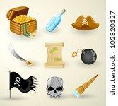 vector illustration of pirate... | Shutterstock .eps vector #102820127