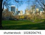 skyline of midtown manhattan... | Shutterstock . vector #1028206741