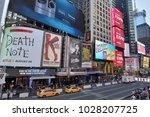 new york city   aug. 24 ... | Shutterstock . vector #1028207725