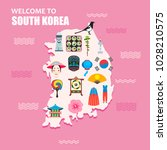 welcome to south korea concept. ... | Shutterstock .eps vector #1028210575