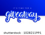 giveaway banner card with... | Shutterstock .eps vector #1028211991