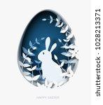 3d abstract paper cut... | Shutterstock .eps vector #1028213371