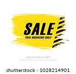 sale banner layout design | Shutterstock .eps vector #1028214901