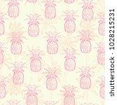 pineapples background. seamless ... | Shutterstock .eps vector #1028215231