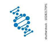 molecule dna logo | Shutterstock .eps vector #1028217091