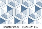 geometric 3d lines abstract... | Shutterstock .eps vector #1028224117