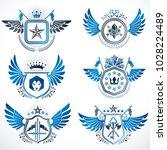 vintage heraldry design...   Shutterstock .eps vector #1028224489