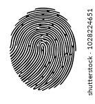 black fingerprint shape  secure ... | Shutterstock .eps vector #1028224651