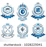 set of vector retro vintage...   Shutterstock .eps vector #1028225041