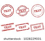 text stamps on white | Shutterstock .eps vector #1028229031
