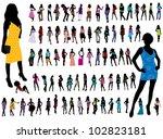 girls | Shutterstock .eps vector #102823181