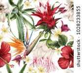 seamless floral pattern with... | Shutterstock . vector #1028233855