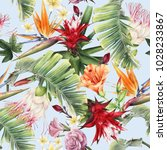 seamless floral pattern with... | Shutterstock . vector #1028233867